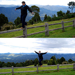Viv on the edge of the Dorrigo Plateau, 2009